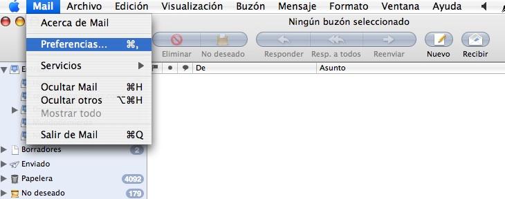 configurar email en mac